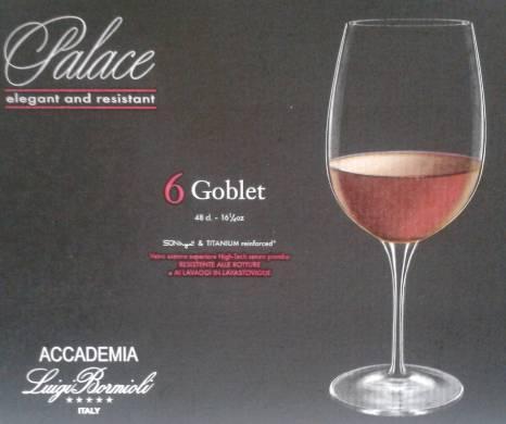 Luigi Bormioli PALACE Goblet talpas pohár, 48 cl, 6 db, 198214