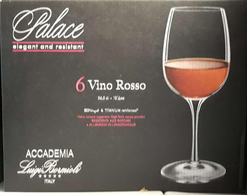Luigi Bormioli Palace Vino Rosso talpas vörösboros pohár, 36,5 cl, 6 db, 198213