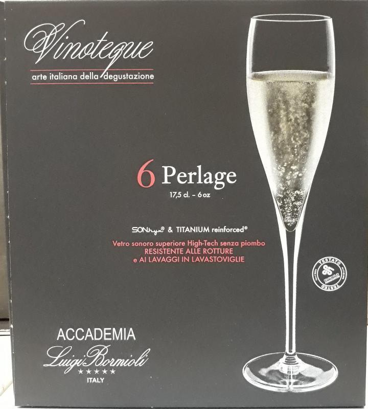 LUIGI BORMIOLI VINOTEQUE PERLAGE pezsgős pohár, 17,5 cl, 6 db, 198123