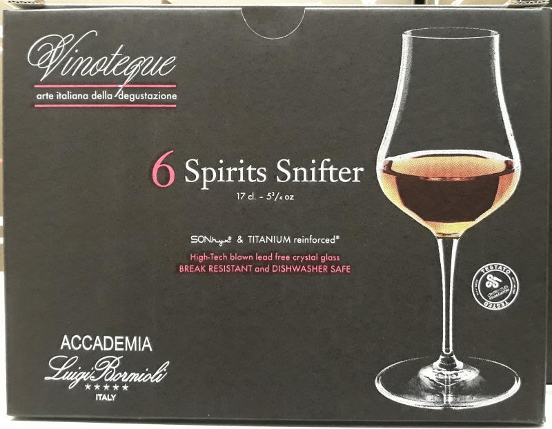 LUIGI BORMIOLI VINOTEQUE SPIRITS SNIFTER pohár, 17 cl, 6 db, 198140
