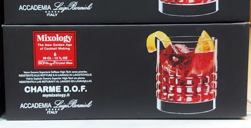 Luigi Bormioly Mixology Charme DOF whiskys pohár 38cl, 6db