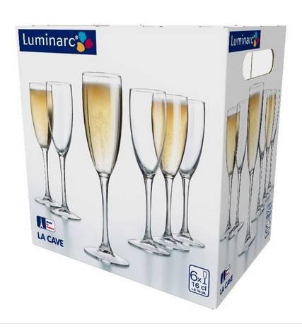 LUMINARC LA CAVE pezsgős kehely, 16 cl, 6 db, 500784