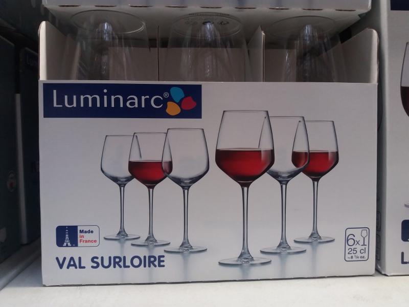 Luminarc Val Surloire talpas vörösboros pohár, 25 cl, 6 db, 500958