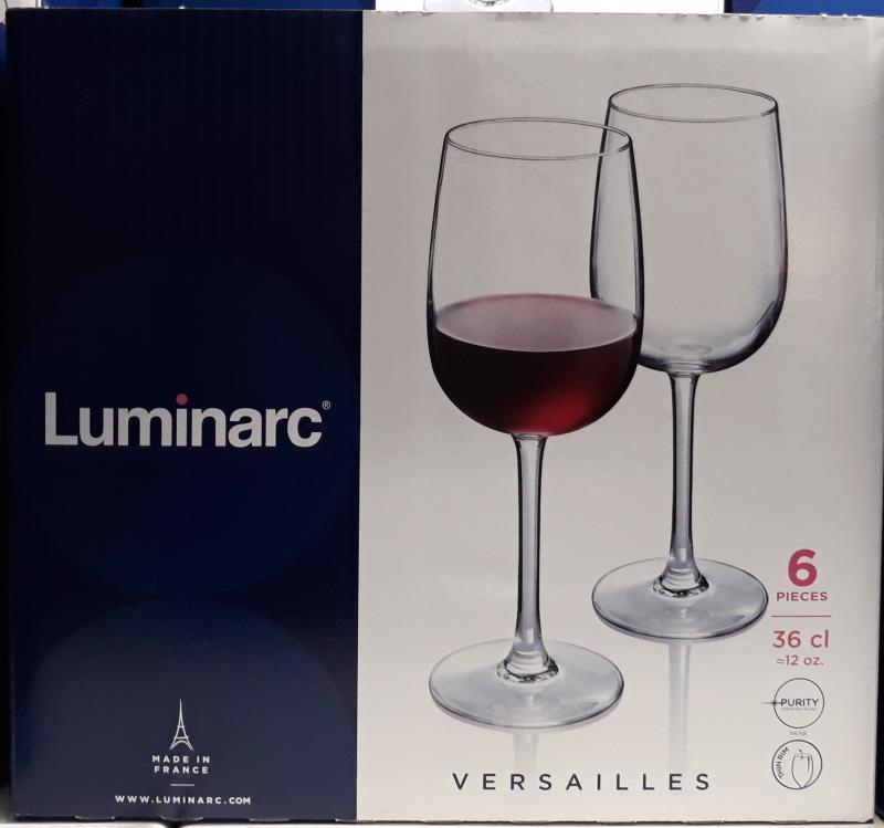 LUMINARC VERSAILLES vörösboros pohár, kisebb, 36 cl, 6 db, 502498