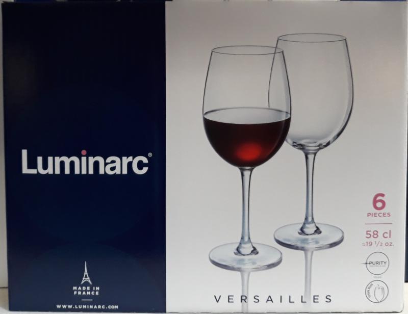 LUMINARC VERSAILLES vörösboros pohár, közepes, 58 cl, 6 db, 502484