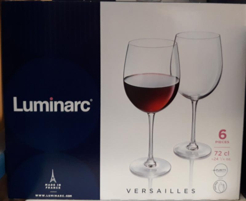 Luminarc Versailles vörösboros pohár, nagy, 72cl, 6db, 502488