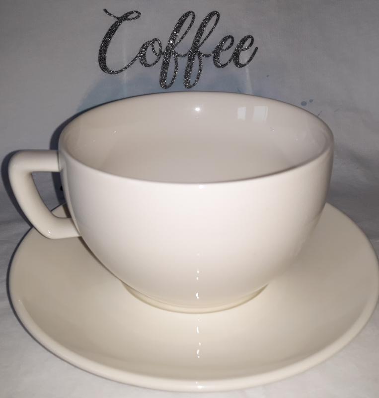 Tescoma Crema porcelán teáscsésze (30 cl)+csészealj (15,5 cm), 139148