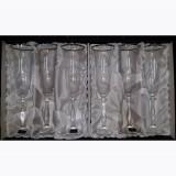 Bohemia kristály pohár ezüstszínű díszítéssel, pezsgős, 6db, 416068