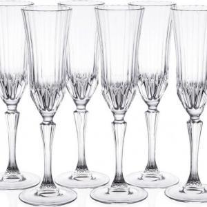 RCR Cristalleria Italiana Adagio talpas pezsgős pohár készlet, 18 cl, 6 db