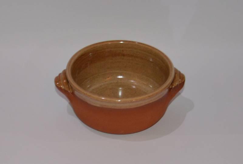 Csűr-rusztikus kis tál, homok színű