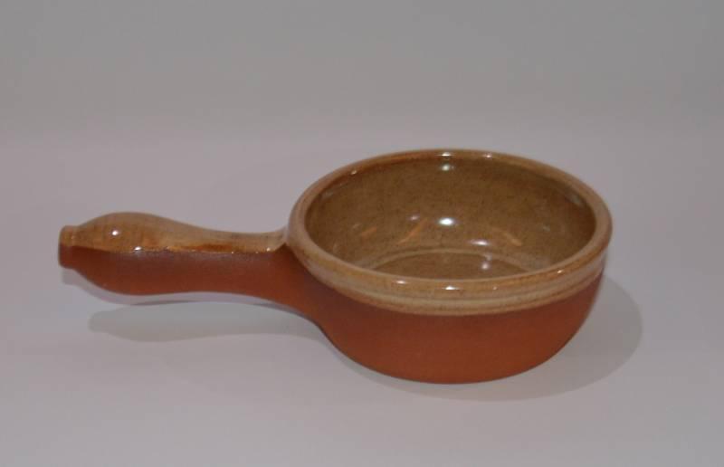 Csűr-rusztikus nyeles tál, homok színű