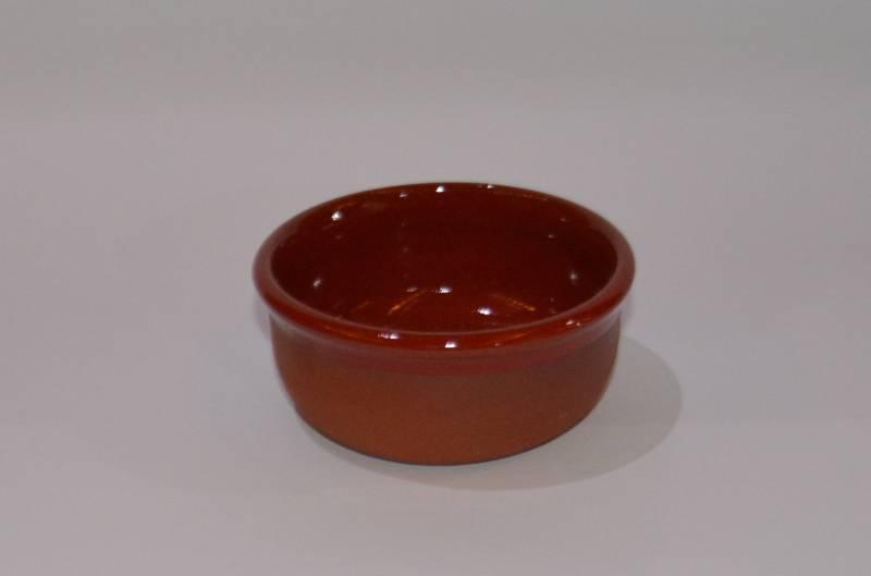 Csűr-rusztikus tálka, piros színű