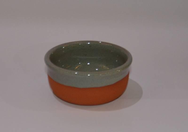 Csűr-rusztikus tálka, türkiz színű
