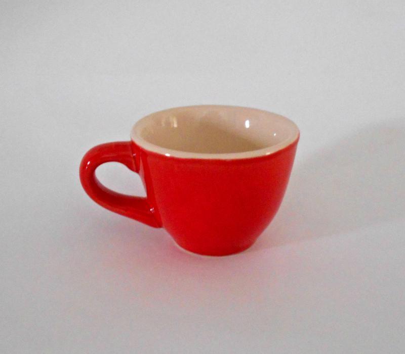 Kis mokkás csésze - piros