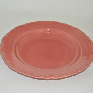 """""""Mintás szélű"""" lapos, rózsaszín"""
