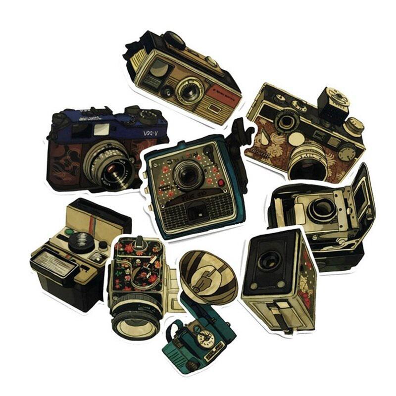 fényképezőgép matrica 9 db
