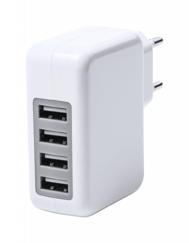 hálózati töltő 4 USB csatlakozással