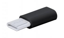 Micro USB Type C adapter fekete