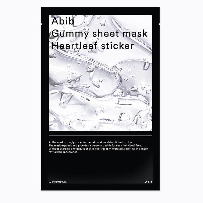ABIB Gummy Sheet Arcmaszk - Heartleaf (Houttuynia Cordata / Kaméleonlevél) Sticker (nyugtató) 27ml