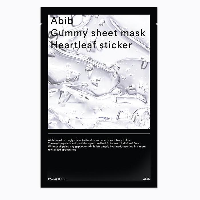 ABIB Gummy Sheet Arcmaszk - Heartleaf Sticker (nyugtató) 27ml