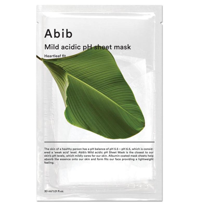 ABIB Mild Acidic pH Arcmaszk - Heartleaf (Houttuynia Cordata / Kaméleonlevél) Fit (nyugtató) 30ml