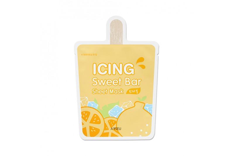 A'PIEU Icing Sweet Bar Arcmaszk - Hanrabong Mandarin (Világosít és Tisztító) 21g