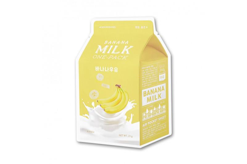 A'PIEU Milk Arcmaszk - Banán (Tápláló) 21g