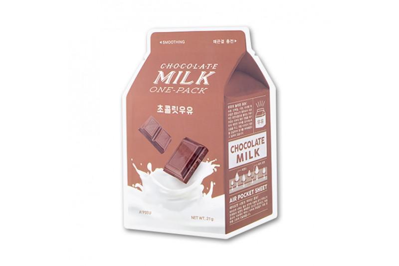 A'PIEU Milk Arcmaszk - Csokoládé (Nyugtató) 21g