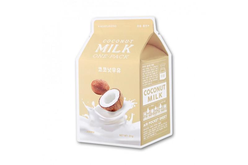 A'PIEU Milk Arcmaszk - Kókusz (Hidratáló) 21g