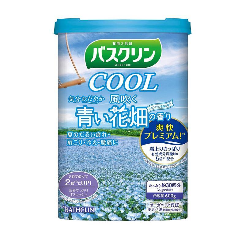 BATHCLIN Cool Bath Japán Fürdősó - Hűs szellő a kék virágmezőn 600g