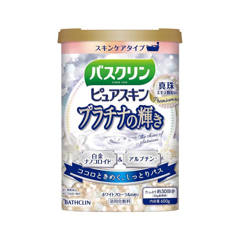 BATHCLIN Premium Pure Skin Japán Fürdősó - Platinum Shine 600g