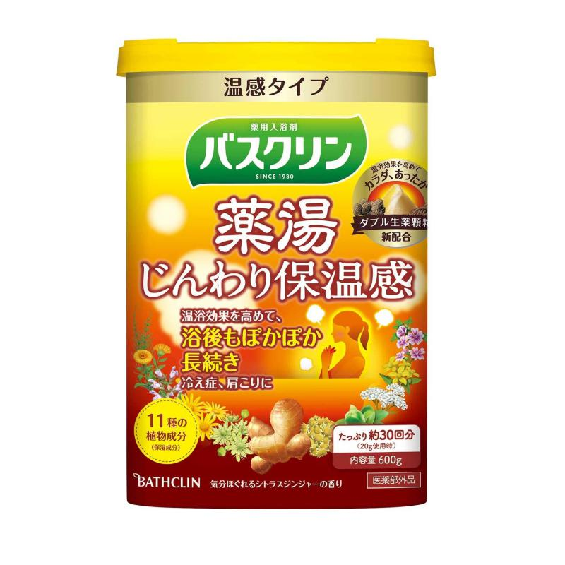 BATHCLIN Yakuto Japán Fürdősó - Gently Keep Warm 600ml