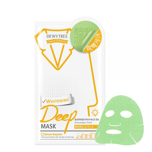 DEWYTREE Deep Green Enzyme Arcmaszk - Whitening (világosító) 27g