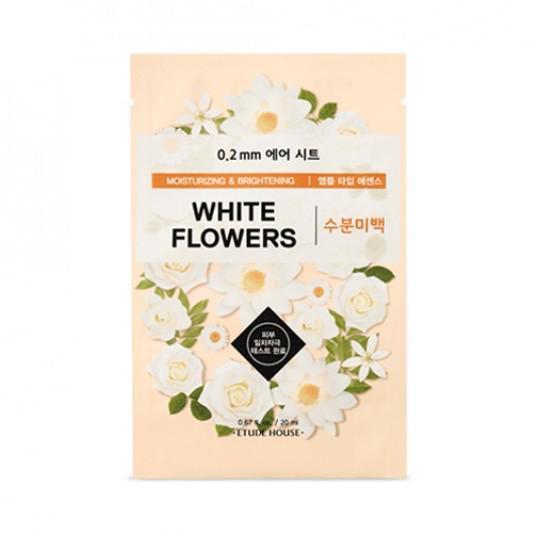 ETUDE HOUSE 0.2 Therapy Air Arcmaszk - Fehér Virágok (Hidratáló és Világosító) 20ml