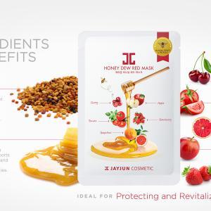 JAYJUN Honey Dew Arcmaszk - Piros (Revitalizáló) 25ml
