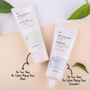 THE FACE SHOP Air Cotton Makeup Base Primer 35g (No.01 Mint) SPF30 PA++