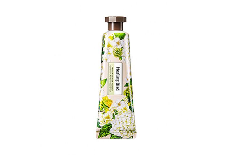 HEALING BIRD Gardener's Perfume Kézkrém - Frézia és Zöld Csokor 30ml