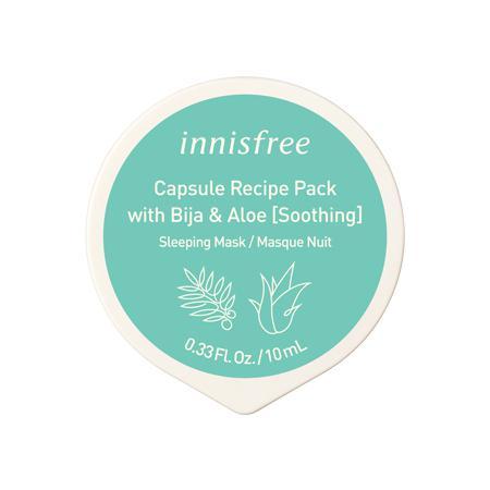 INNISFREE Capsule Recipe Pack Arcmaszk - Bija és Aloe 10ml