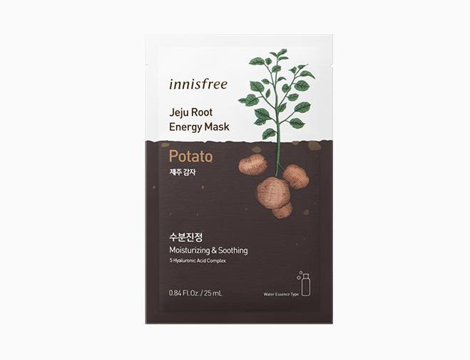 INNISFREE Jeju Root Energy Arcmaszk - Burgonya (Hidratáló és Nyugtató) 25ml