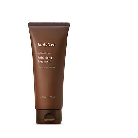 INNISFREE My Hair Recipe Refreshing Treatment Frissítő Kezelés (zsíros fejbőrre) 200ml