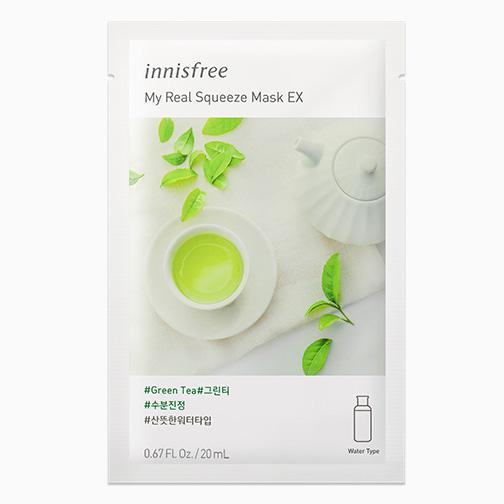 INNISFREE My Real Squeeze Arcmaszk Green Tea / Zöld Tea (Nyugtató) 20ml