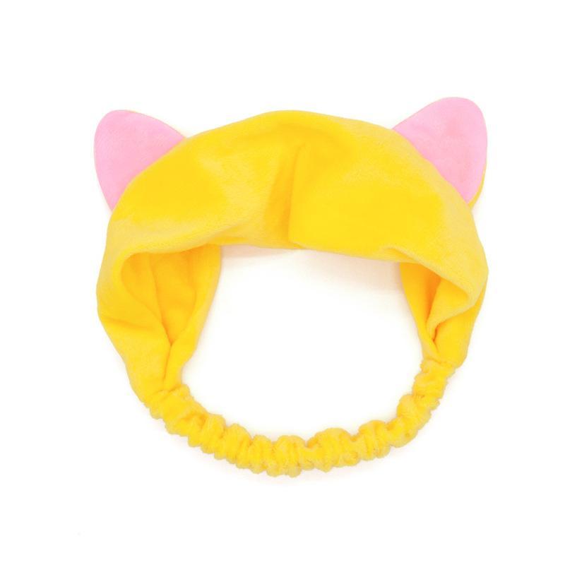 Kozmetikai Hajpánt hegyes macskafülekkel - Sárga