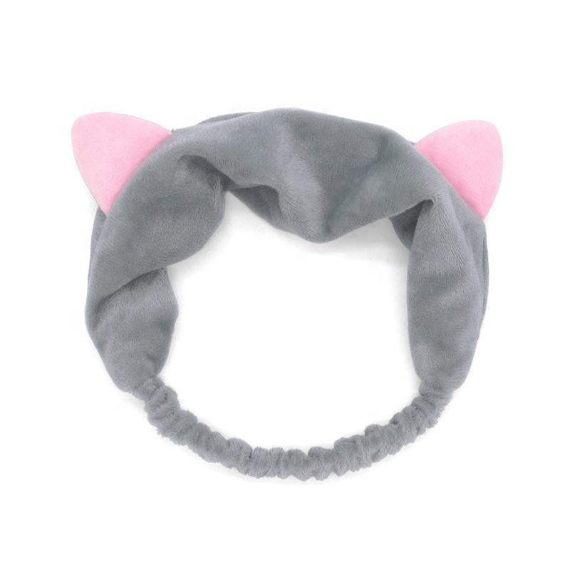 Kozmetikai Hajpánt hegyes macskafülekkel - Szürke