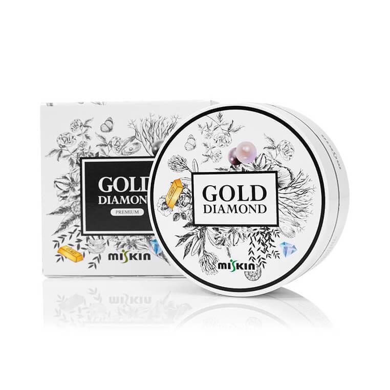 MISKIN Gold Diamond Hydro Gel Szem Maszk - Fekete Gyöngy (60db)