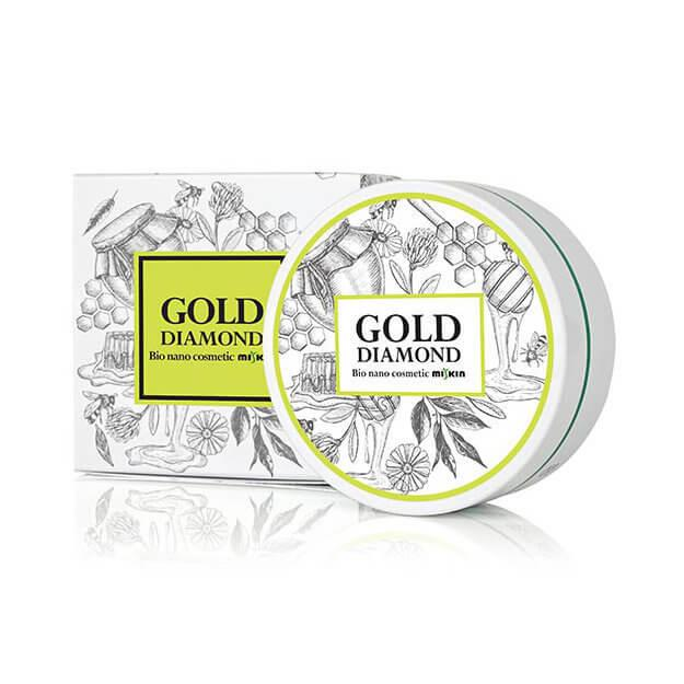 MISKIN Gold Diamond Hydro Gel Szem Maszk - Mézes Zöld Tea (60db)