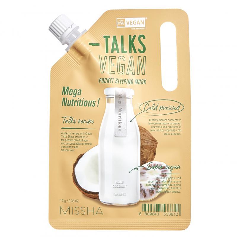 MISSHA Talks Vegan Squeeze Pocket Éjszakai Arcmaszk - Mega Nutritious 10g