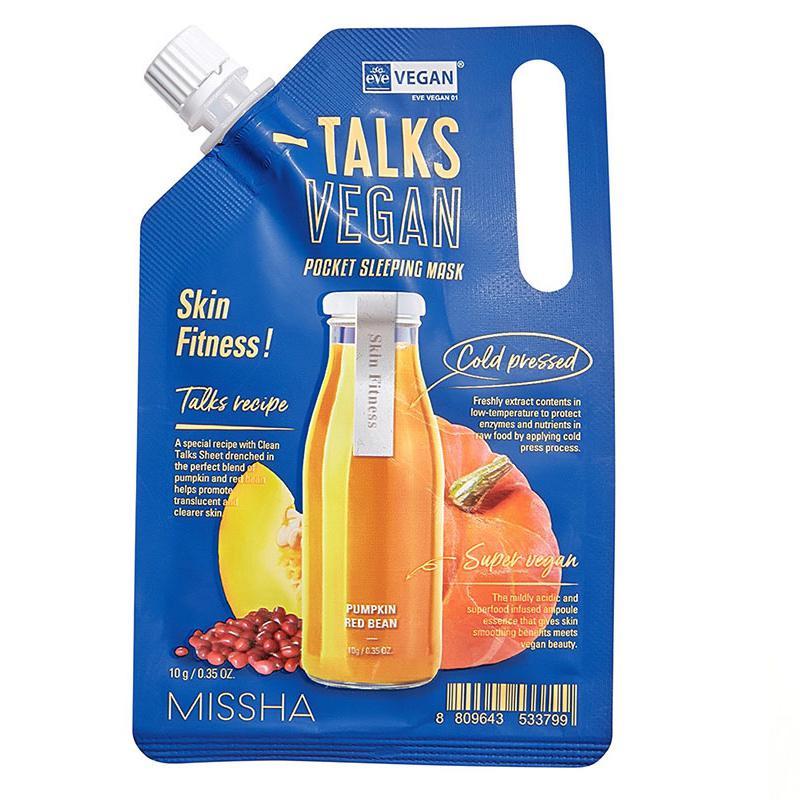 MISSHA Talks Vegan Squeeze Pocket Éjszakai Arcmaszk - Skin Fitness 10g