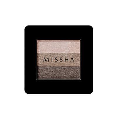 MISSHA Triple Shadow Szemhéjfesték - No.04 Chocolate Brown