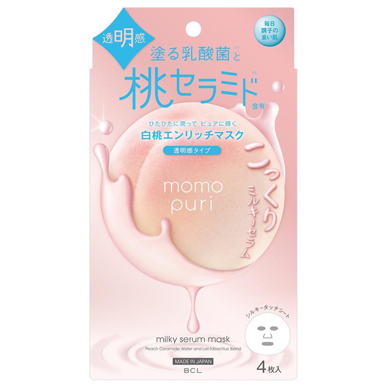 MOMO PURI Peach Milky Szérum Arcmaszk 19ml