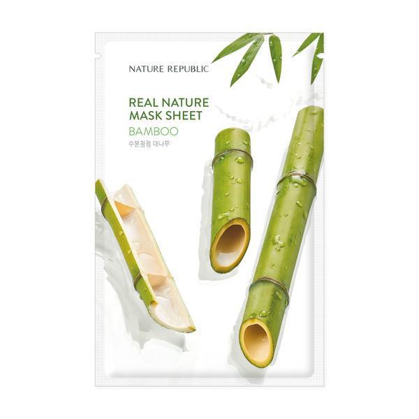 NATURE REPUBLIC Real Nature Arcmaszk - Bambusz (Hidtatáló) 23ml